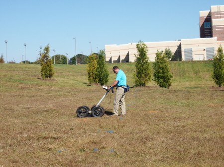 GPR in use at a local hospital.